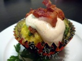 Egg n' Bacon Cupcakes with Chipolte Cream!