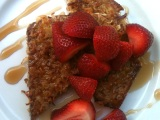 Coconut Crusted French Toast with Fresh Strawberries!