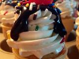 Ice Cream Cone Cupcake Sundaes with Swiss Meringue Buttercream!