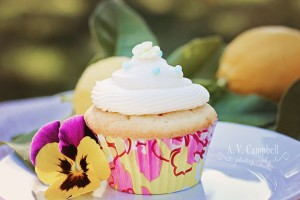 Lemon Cupcakes with Cream Cheese Frosting!